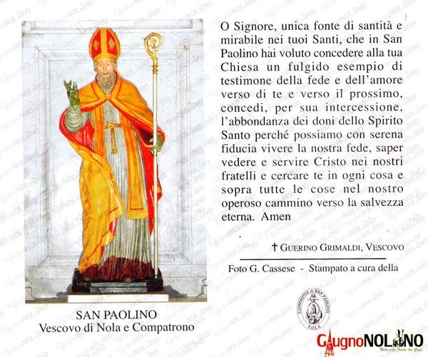 San Paolino, preghiera